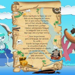 Búsqueda del tesoro para niños - Paso 1